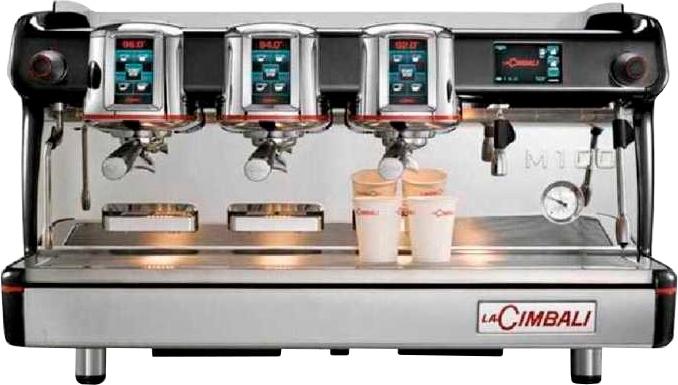 Кофемашина LA CIMBALI M100 HDDT3 BLACK высокие группы - 1